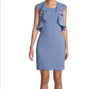 BCBGMaxAzria Ruffle Blue Bell Dress Brand New